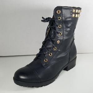 Henry Ferrera Black Lace Up Boots